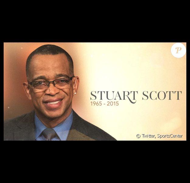 Stuart Scott, emblématique journaliste sportif d'ESPN et SportsCenter est mort à 49 ans le 4 janvier 2015