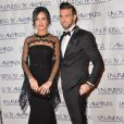 """Leila et Aymeric (Secret Story 8) - Le couple était très élégant à la cérémonie des """"Lauriers TV Awards 2015"""" à la Cigale à Paris, le 6 janvier 2015."""