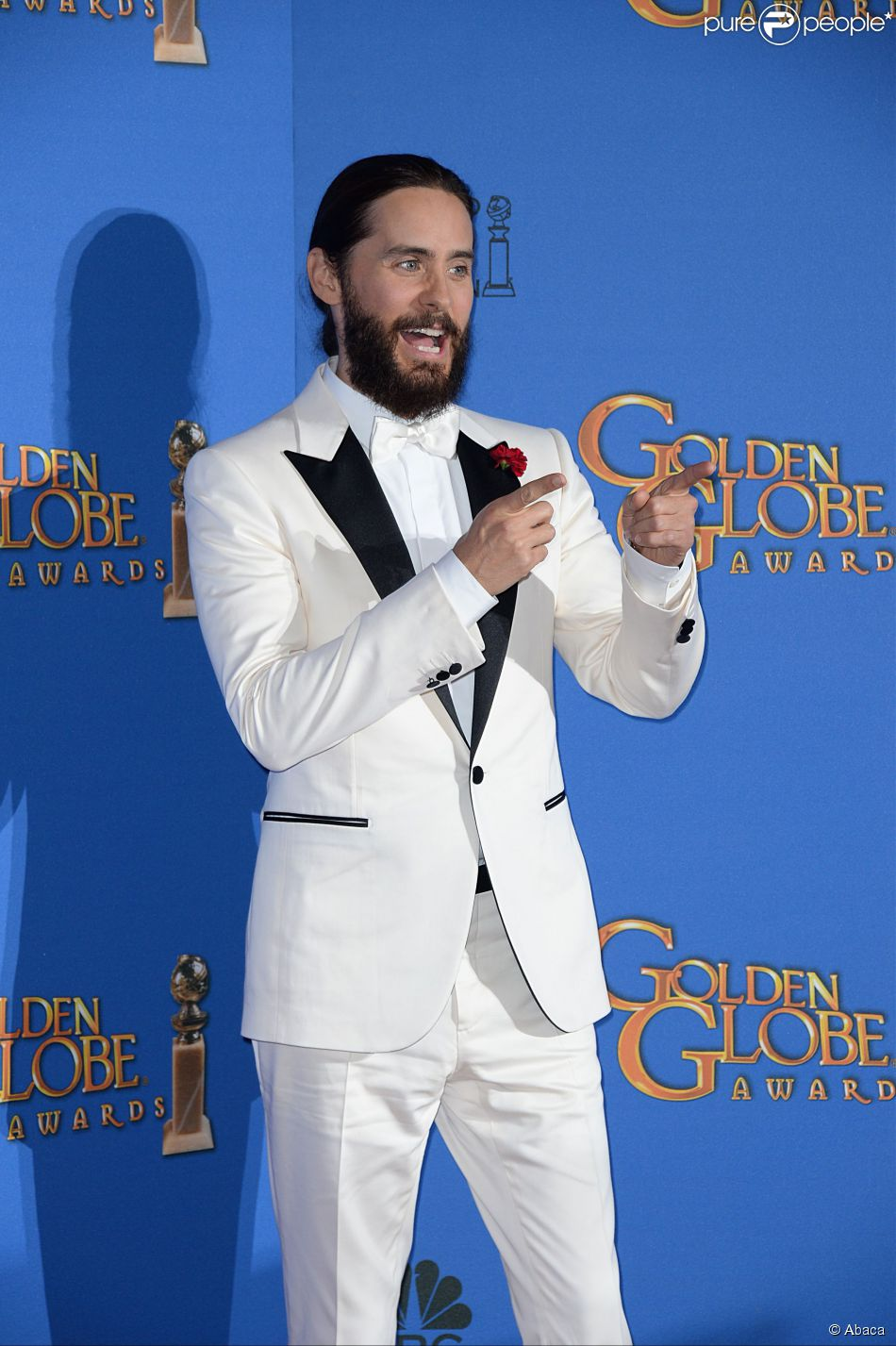Jared Leto aux Golden Globe Awards à Beverly Hills, Los Angeles, le 11 janvier 2015.