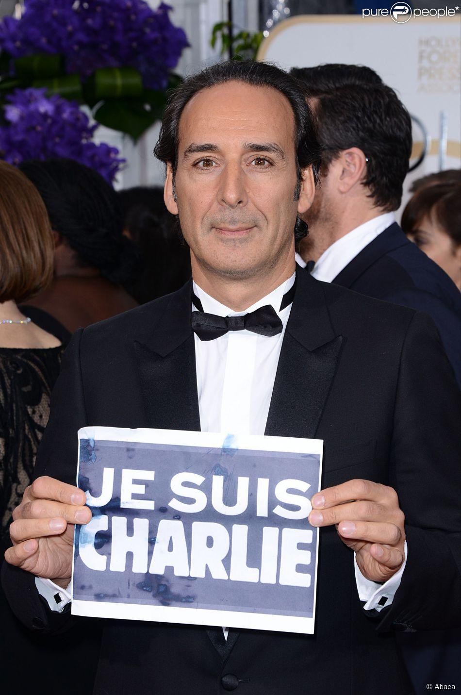 Alexandre Desplat est Charlie aux olden Globe Awards 2015.