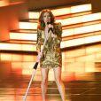 Céline Dion en concert au Colosseum du Caesars Palace à Las Vegas, le 15 mars 2011