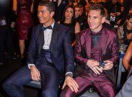 Cristiano Ronaldo et Lionel Messi : Main sur la cuisse et regard complice...