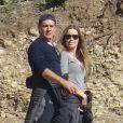 Antonio Banderas et sa petite-amie Nicole Kimpel passent la journée dans les décors de Caminito del Rey à Malaga, le 20 décembre 2014.