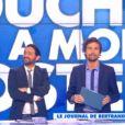 Cyril Hanouna et Bertrand Chameroy dans Touche pas à mon poste, le jeudi 15 janvier 2015.