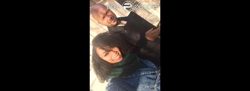 Sonequa Martin-Green et son mari le 1er janvier 2015