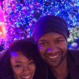 Sonequa Martin-Green et son mari le 27 décembre 2014