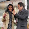Exclusif - Sonequa Martin-Green sur le Tournage de la serie 'Once Upon A Time' a Vancouver, le 1 mars 2013