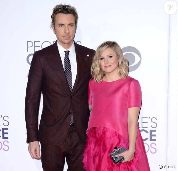 Dax Shepard & Kristen Bell lors des People's Choice Awards au Nokia Theatre LA Live, Los Angeles, le 7 janvier 2015.