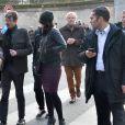 Le dessinateur Luz (Renald Luzier) - Obsèques du dessinateur Honoré (Philippe Honoré) et du correcteur de Charlie Hebdo Mustapha Ourrad au cimetière du Père-Lachaise à Paris, le 16 janvier 2015.