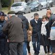 Patrick Pelloux - Obsèques du dessinateur Honoré (Philippe Honoré) et du correcteur de Charlie Hebdo Mustapha Ourrad au cimetière du Père-Lachaise à Paris, le 16 janvier 2015.