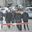 Obsèques du dessinateur Honoré (Philippe Honoré) et du correcteur de Charlie Hebdo Mustapha Ourrad au cimetière du Père-Lachaise à Paris, le 16 janvier 2015.