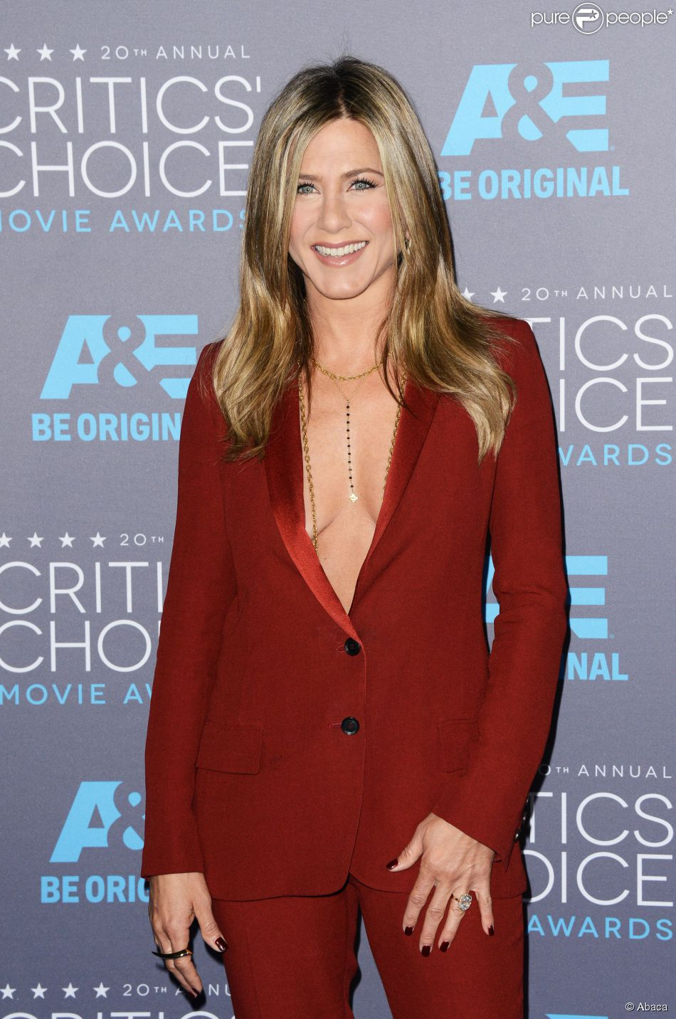 Jennifer Aniston lors des Critics' Choice Movie Awards à Los Angeles le 15 janvier 2015