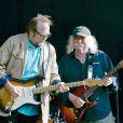 Stephen Stills, Graham Nash, David Crosby de Crosby, Stills and Nash sur scène à Hyde Park, Londres, le 27 juin 2010.