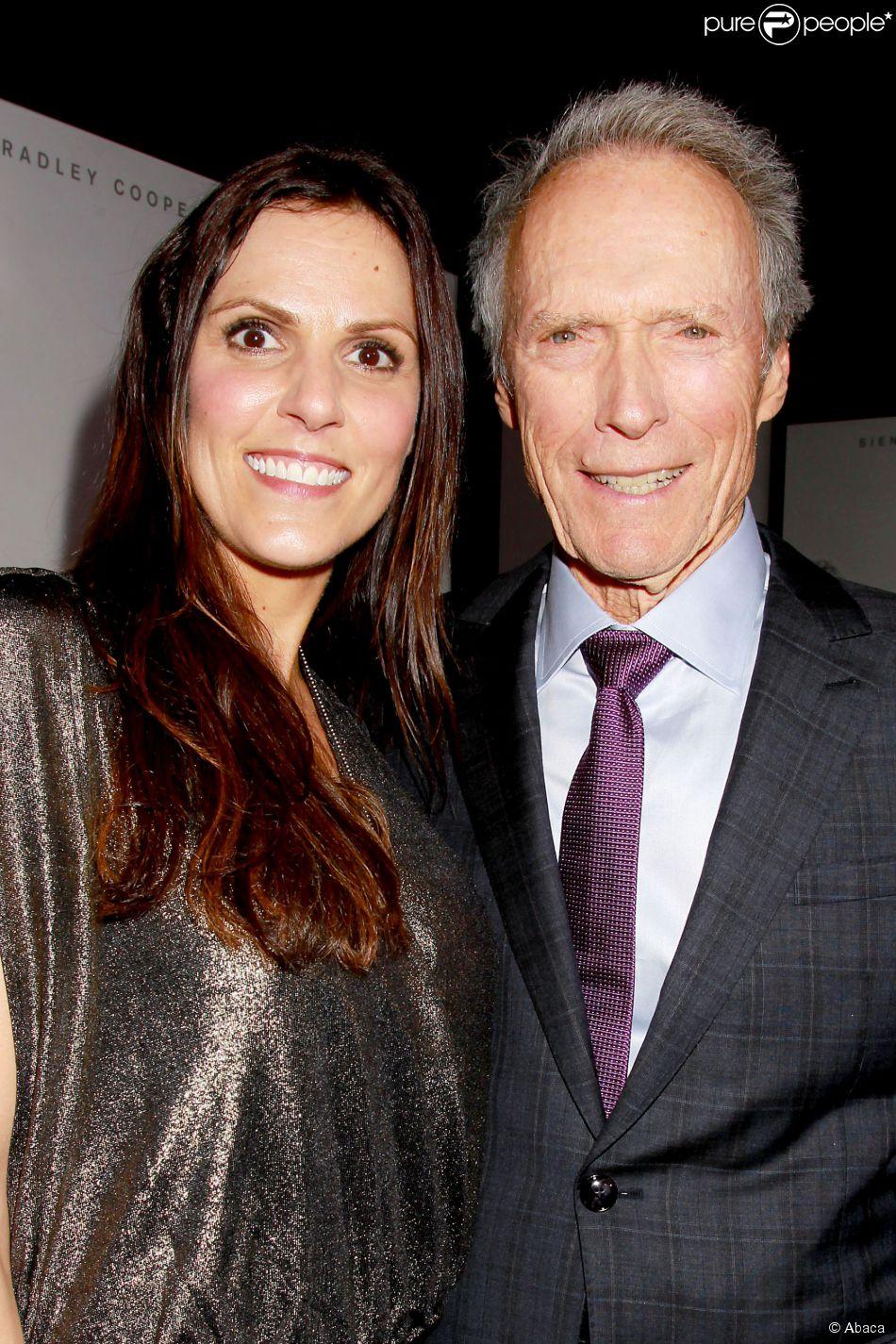 Taya Kyle et Clint Eastwood à New York le 15 décembre 2014.