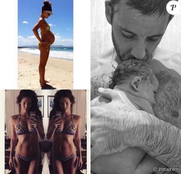 Example (Elliot John Gleave) et Erin McNaught sont les heureux parents d'un petit Evander. Un mois après l'accouchement, Erin, ex-Miss Univers Australie, a déjà retrouvé la ligne...