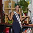 Paulina Vega, Miss Universe 2014, à l'émission  Despierta America . Le 26 janvier 2015 en Floride.