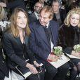 Carla Bruni-Sarkozy, Gilles Dufour, Catherine Deneuve et Dita von Teese - Personnalités au défilé de mode Jean Paul Gaultier, collection Haute Couture printemps-été 2015 à Paris le 28 janvier 2015.
