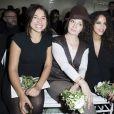 Izïa Higelin, Catherine Ringer et Noémie Lenoir - Personnalités au défilé de mode Jean Paul Gaultier, collection haute couture printemps-été 2015 à Paris le 28 janvier 2015.