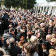 - Obsèques du chanteur Demis Roussos au Premier Cimetière d'Athènes en Grèce. Le 30 janvier 2015