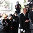 Obsèques du chanteur Demis Roussos au Premier Cimetière d'Athènes en Grèce. Le 30 janvier 2015