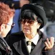 Marie (femme de Demis Roussos) - Obsèques du chanteur Demis Roussos au premier cimetière d'Athènes en Grèce le 30 janvier 2015.