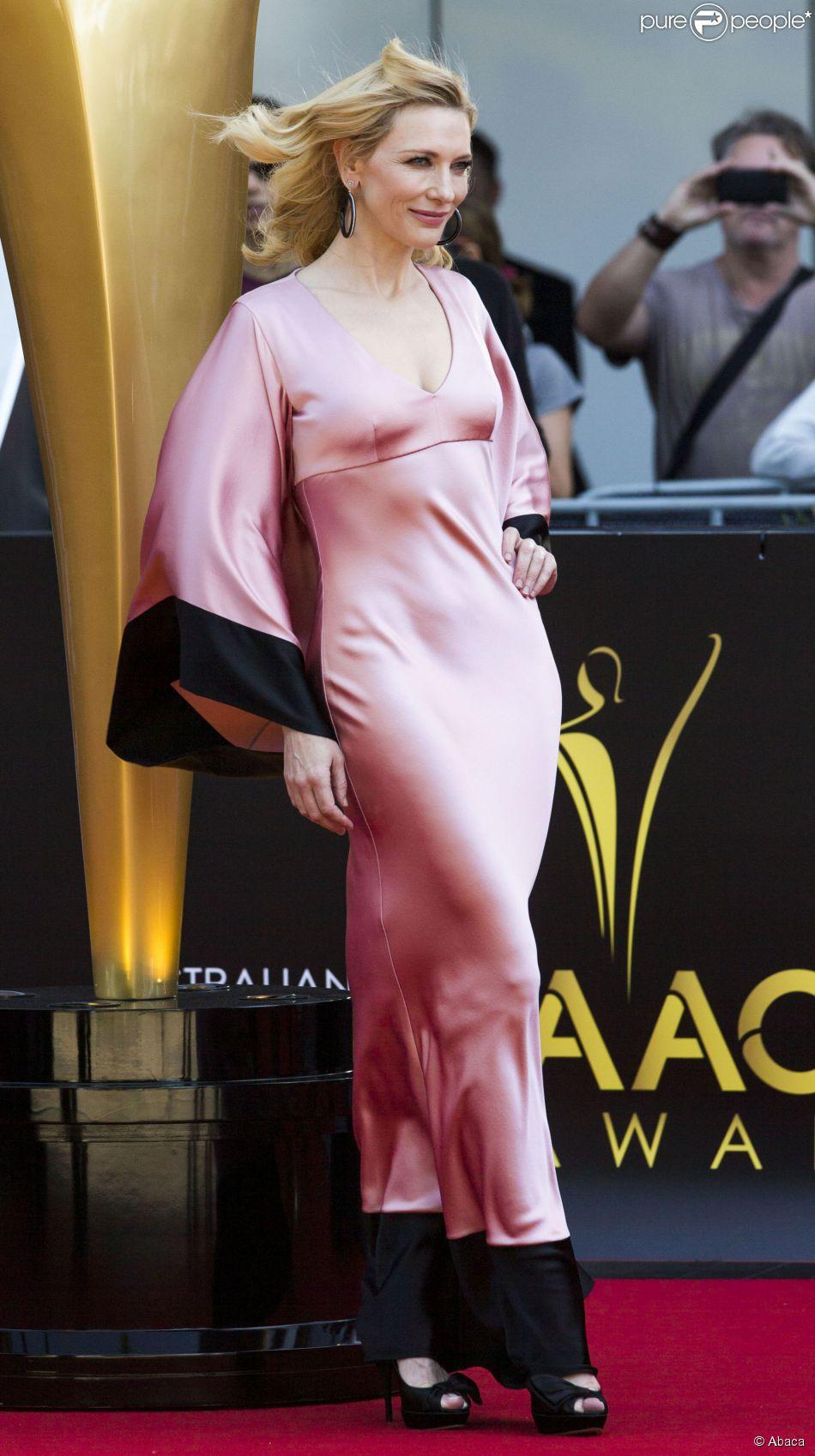 Cate Blanchett très sexy en Alexander McQueen lors des AACTA Awards à Sydney, le 29 janvier 2015.