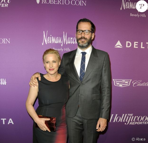 Patricia Arquette et son compagnon Eric White lors de la soirée The Hollywood Reporter's Annual Oscar Nominees Night, au Spago, Beverly Hills, Los Angeles, le 2 février 2015.