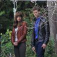 Jamie Dornan et Dakota Johnson sur le tournage à Stanley Park, Vancouver, le 14 octobre 2014.