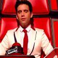 Mika pendant la prestation de Clémence dans The Voice 4, sur TF1, le samedi 7 février 2015
