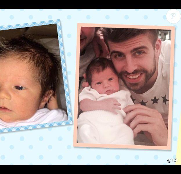Gerard Piqué et son fils Sasha - 2015