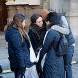 Sophie Artur, fille de José - Hommage à José Artur en l'église Saint-Germain-des-Prés à Paris le 7 février 2015
