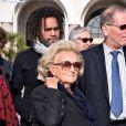 Bernadette Chirac et Christian Karembeu ont fait une halte à Nice dans le cadre de la tournée des Pièces jaunes, le 7 février 2015
