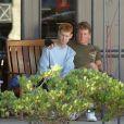 """Ryan O'Neal et son fils Redmond"""