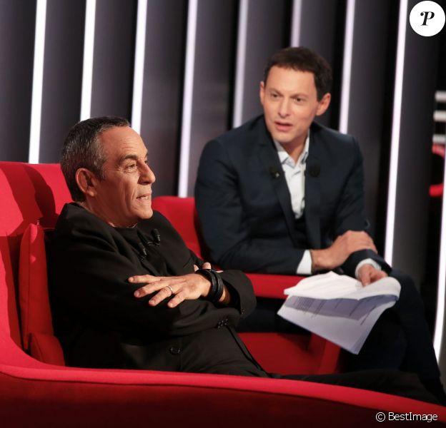 Exclusif - Enregistrement de l'émission Le Divan présentée par Marc-Olivier Fogiel, avec Thierry Ardisson en invité, le 31 janvier 2015.