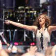 Whitney Houston lors du concert Good Morning America à Central Park à New York, le 1er septembre 2009