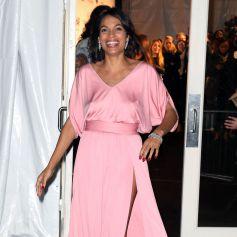 Rosario Dawson arrive au Cipriani Wall Street pour assister au gala pré-Fashion Week de l'amfAR 2015. New York, le 11 février 2015.