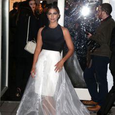 Camila Alves arrive au Cipriani Wall Street pour assister au gala pré-Fashion Week de l'amfAR 2015. New York, le 11 février 2015.