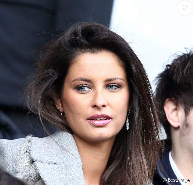 Malika Ménard lors du match entre le Paris Saint-Germain et Caen au Parc des Princes à Paris, le 14 février 2015