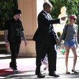 Semi-Exclusif - Cameron Diaz et Benji Madden sont allés déjeuner avec Nicole Richie et Joel Madden à l'hôtel Four Seasons à Beverly Hills. Nicole est accompagnée de ses enfants Harlow et Sparrow. Le 25 janvier 2015