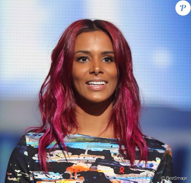 Exclusif - Shy'm participe à l'émission Alors on chante, au Palais des Sports à Paris, diffusée le 28 novembre 2014 sur TF1.