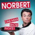 """Affiche du one-man show de Norbert Tarayre intitulé """"Norbert One-man Show Patate"""". A partir du 8 janvier au théâtre de la nouvelle Eve à Paris."""
