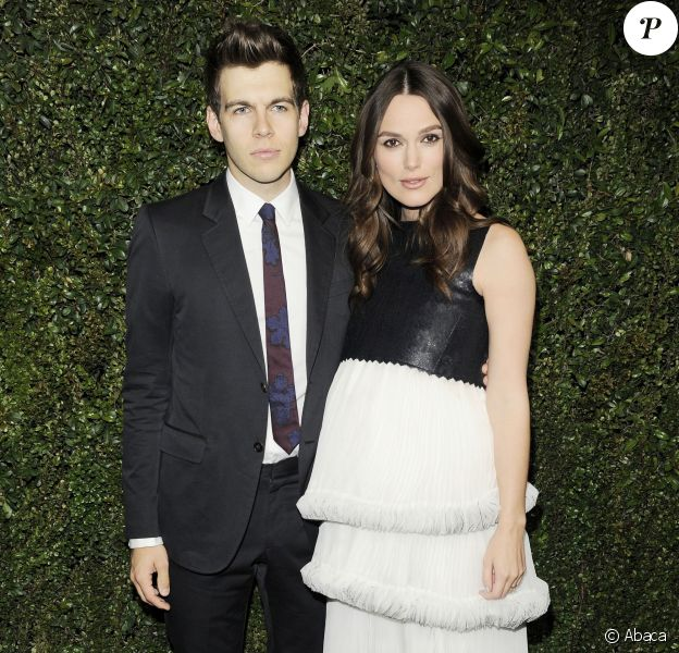 James Righton et Keira Knightley lors du dîner organisé par Chanel et Charles Finch avant les Oscars au restaurant Madeo, à Beverly Hills le 21 février 2015
