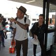 Ben Harper and his fiance leave LAX in Calabasas, Los Angeles, CA, USA on September 11, 2014. They are on their way to Salt Lake City. Photo by Ramey Agency/ABACAPRESS.COM12/09/2014 - Los Angeles