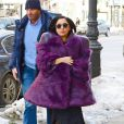 Lady Gaga quitte son hotel à New York le 16 février 2015.