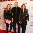 David Ginola avec son épouse Coraline et leur fille Carla - Soirée en faveur de la Fondation Naked Heart de Natalia Vodianova au Roundhouse à Londres, le 24 février 2015.