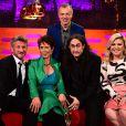 Graham Norton, Sean Penn, Celia Imrie, Ross Noble et Kelly Clarkson lors de l'enregistrement du Graham Norton Show à Londres le 19 février 2015