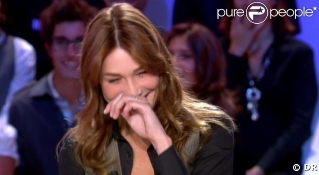Carla Bruni fait son Grand Journal