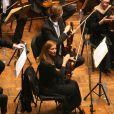 """Exclusif - Anne Gravoin et son orchestre """"Alma Chamber Orchestra"""" en concert à l'Auditorium de la Radio Algérienne à Alger dans le cadre de la tournée au Maghreb, le 17 février 2015."""