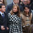 Haïm Korsia, Manuel Valls, sa femme Anne Gravoin et Najat Vallaud-Belkacem - Marche républicaine pour Charlie Hebdo à Paris, suite aux attentats terroristes survenus à Paris les 7, 8 et 9 janvier. Paris, le 11 janvier 2015