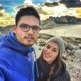 """"""" Florent Manaudou et Fanny Skalli, photo publiée sur le compte Instagram du nageur le 19 janvier 2014 """""""